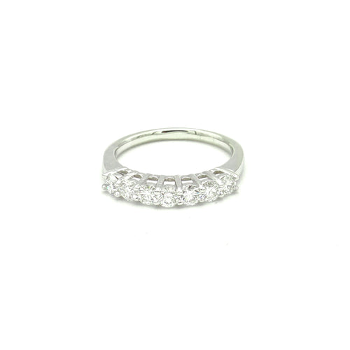 14K White Gold 7 Diamond Band by Artcarved