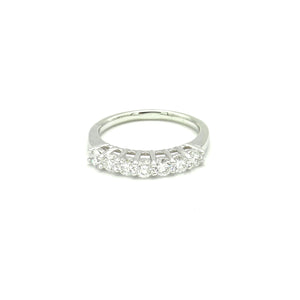 14K White Gold 7 Diamond Band by Artcarved - BRI01318