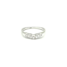 Load image into Gallery viewer, 14K WhIte Gold Silhouette Diamond Band - BRI01146