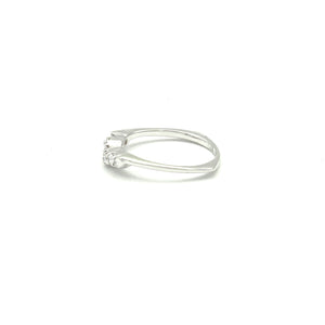 14K WhIte Gold Silhouette Diamond Band - BRI01146