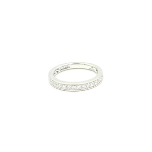14k White Gold Princess Cut Channel Set Band
