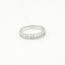 Load image into Gallery viewer, 14K White Gold Pave Set Wedding Band From Gabriel & Co.