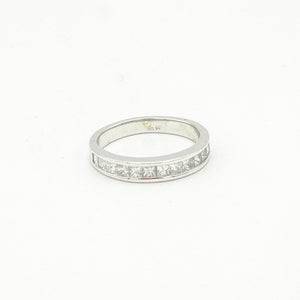 14K White Gold Pave Set Wedding Band From Gabriel & Co.