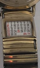 Load image into Gallery viewer, Mens Vintage Lord Elgin Watch With Vintage Rotating Calendar Band