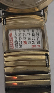 Mens Vintage Lord Elgin Watch With Vintage Rotating Calendar Band