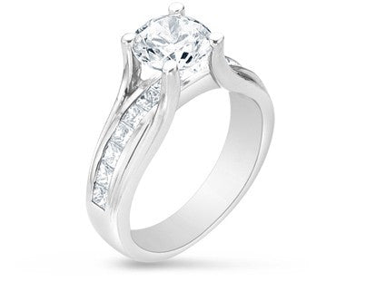 Verragio Classico Collection Ladies Round Cut Platinum Engagement Ring - Le Vive Jewelry in Riverside