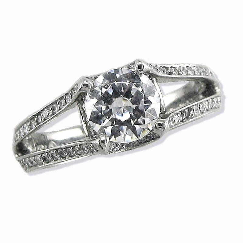 Verragio Ladies Round Cut Platinum Engagement Ring - Le Vive Jewelry in Riverside