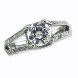 Verragio Ladies Round Cut Platinum Engagement Ring
