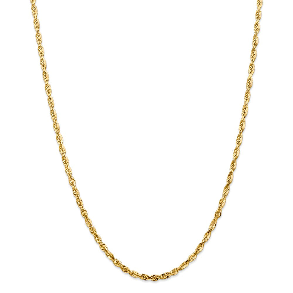 14k 4mm Diamond-Cut Extra-Light Rope Chain