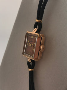 Ladies Vintage 14k Rose Gold Helbros