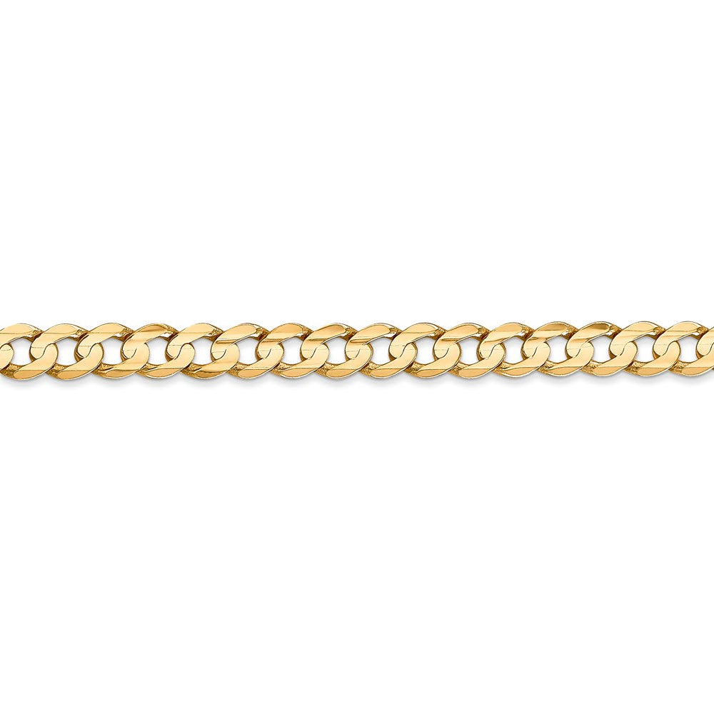 14k 5.25mm Open Concave Curb Chain