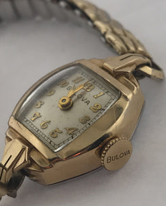 Ladies Vintage Bulova 10k Gold Filled Watch 17 Jewels