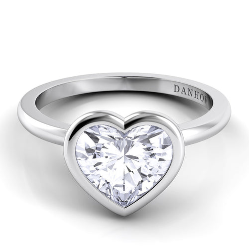 Danhov Per Lei Heart Shape Single Shank Engagement Ring - Le Vive Jewelry in Riverside