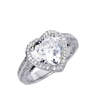 Load image into Gallery viewer, Danhov Heart Shape Engagement Ring, Heart Shape Diamond - Le Vive Jewelry in Riverside