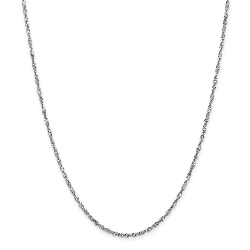 14k White Gold 1.7mm Singapore Chain