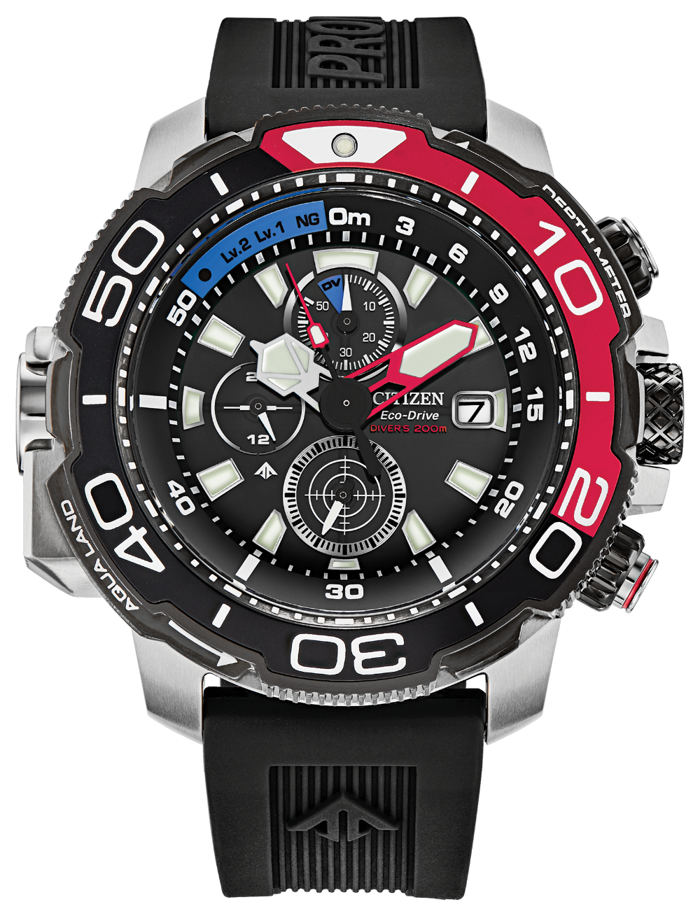 Promaster Aqualand Red Accent - Citizen Eco Drive