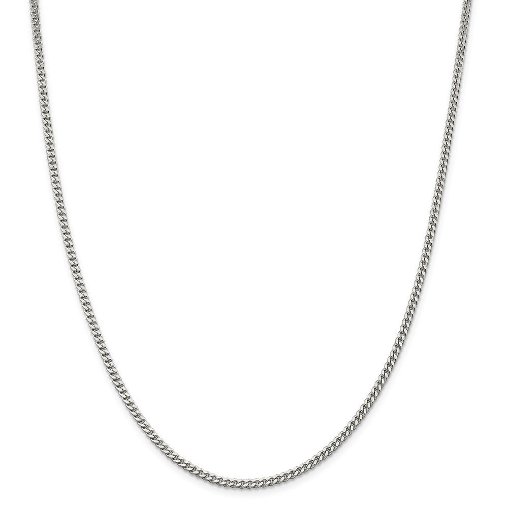 Sterling Silver 3mm Curb Chain- Lobster Clasp