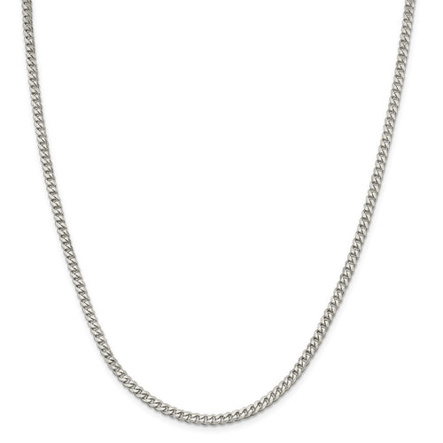 Sterling Silver 3.5mm Curb Chain-Lobster Clasp