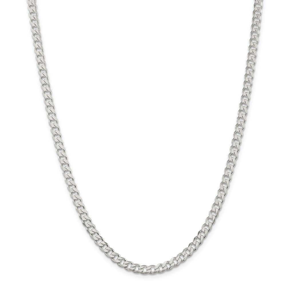 Sterling Silver 4.5mm Curb Chain-Lobster Clasp