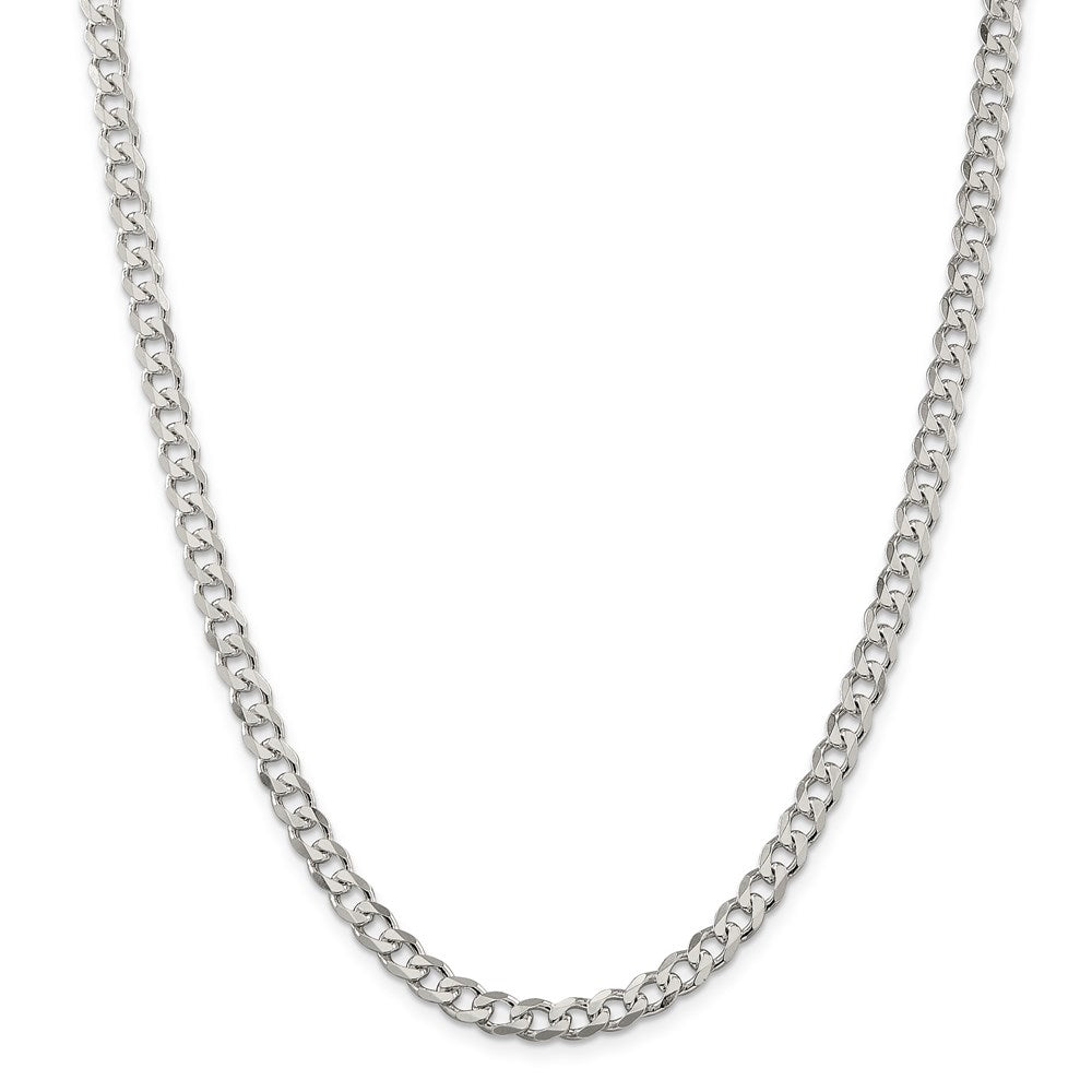 Sterling Silver 6mm Curb Chain-Lobster Clasp