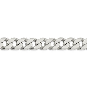 Sterling Silver 16.25mm Curb Chain-Fancy Lobster Clasp