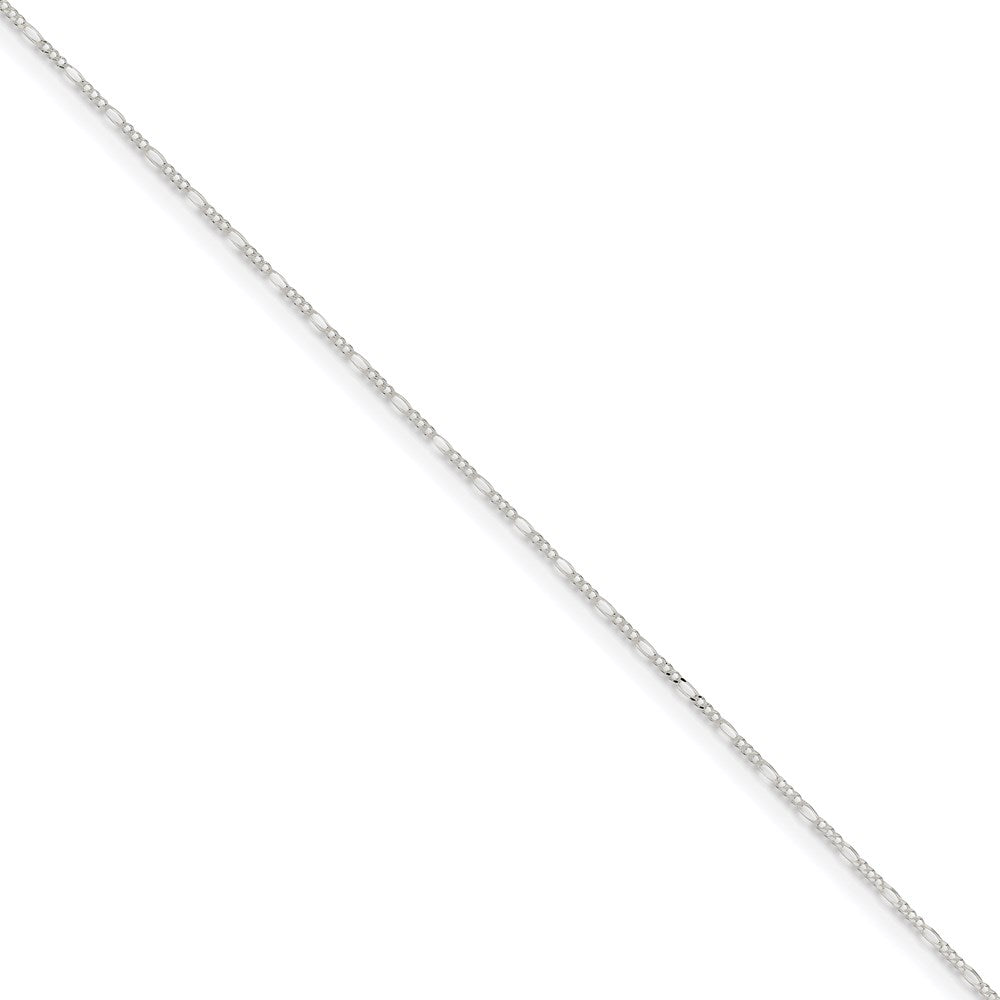 Sterling Silver 1.4mm Figaro Bracelet- Spring Ring