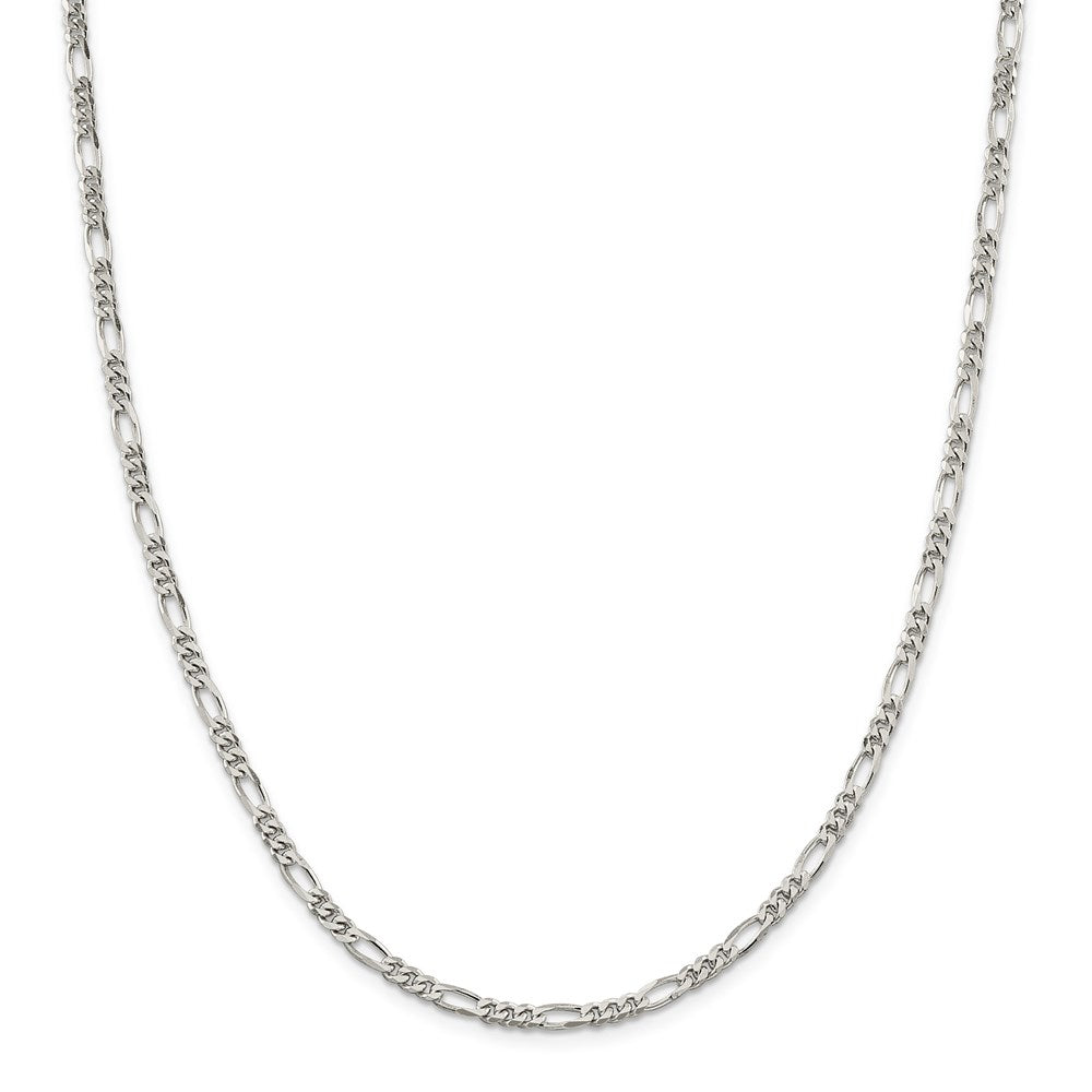 Sterling Silver 3.5mm Figaro Chain- Lobster Clasp