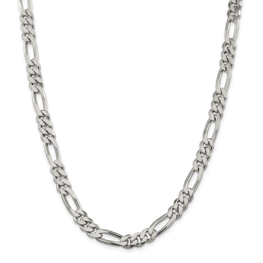 Sterling Silver 8mm Figaro Chain- Lobster Clasp