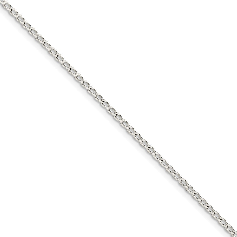 Sterling Silver 2.0mm Open Link Bracelet/Anklet- Spring Ring