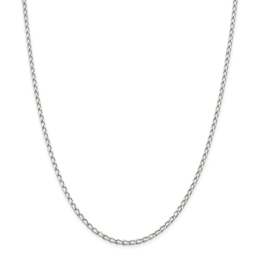 Sterling Silver 2.8mm Open Link Chain- Lobster Clasp
