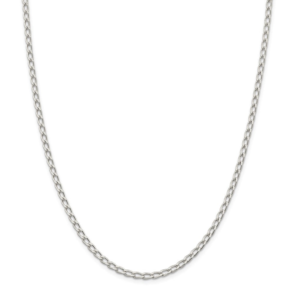 Sterling Silver 3.2mm Open Link Chain- Lobster Clasp
