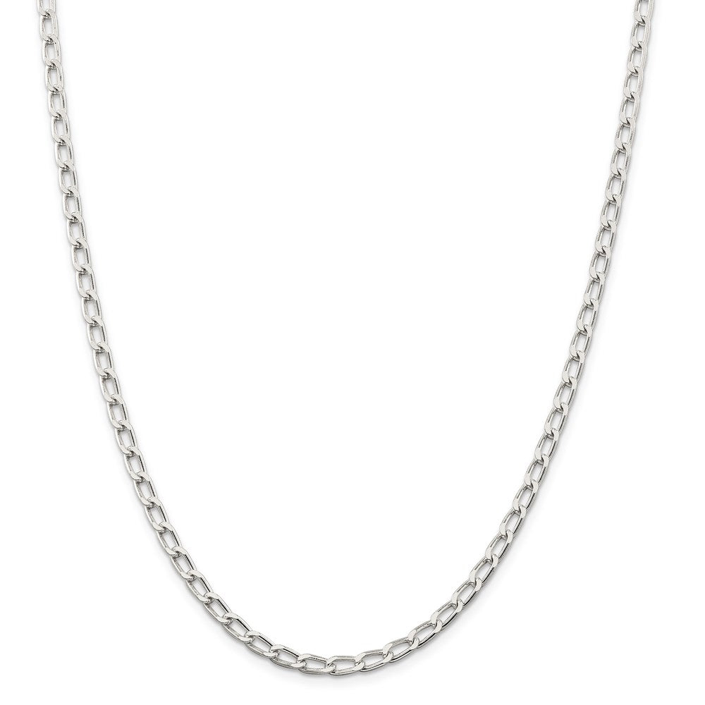 Sterling Silver 4.3mm Open Link Chain- Lobster Clasp