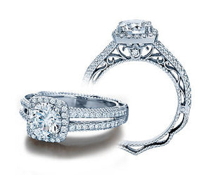 Verragio Venetian Collection Ladies Round Cut Engagement Ring - Le Vive Jewelry in Riverside