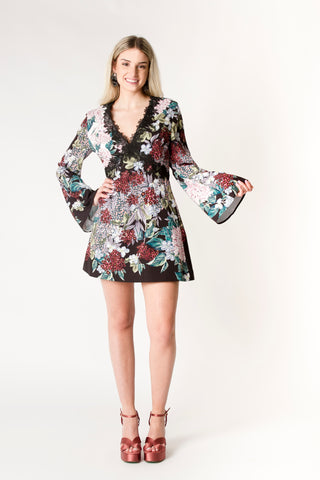 Tropical Bell Sleeve Dress - Farminista