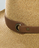 Leather Belted Panama Hat