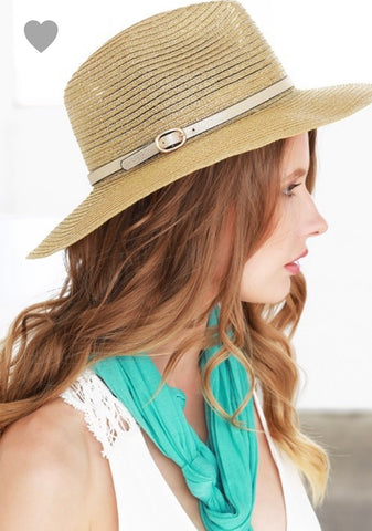 Metallic Panama Hat