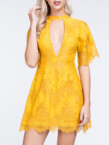 Lace Cut-Out Dress - Farminista