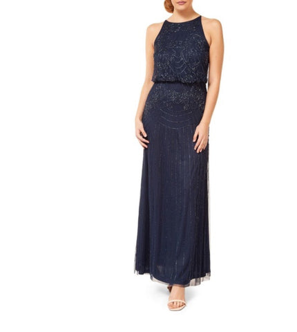 Halter Beaded Gown - Farminista