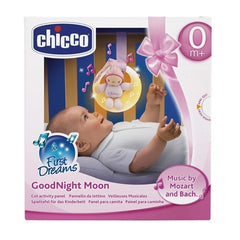 First Dreams Good Night Moon Panel Para Camita Rosa