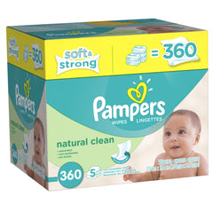 Toallitas Húmedas Pampers Natural Clean - bebe2go.com