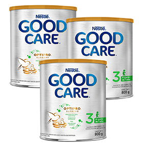 3 Latas Fórmula Infantil Good Care 3 Optipro Supreme 800 gr | Más de 1 año | Good Start - Bebe2go.com