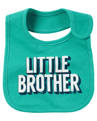 Babero Carters Little Brother-Azul | Baberos y Repetidores | Carters - Bebe2go.com