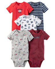 Set de 5 piezas Bodys para Niño All Star