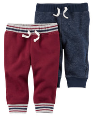 Set 2 Pantalones Gris y Vino Adorable Carter's