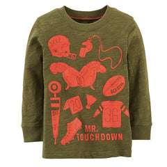 Playera Mr. Touchdown | Playeras y Camisas | Carters - Bebe2go.com