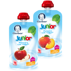 3 pzs Snacks Junior de GERBER® Fruta con Yogurt 113g