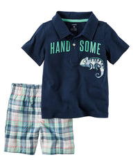Set de 2 Pzas Carters Handsom-Azul