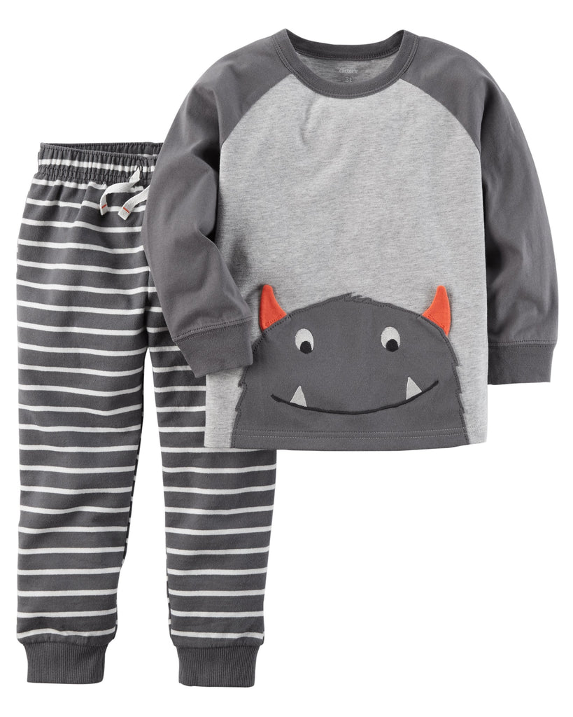 Conjunto Monster Gris Carter's
