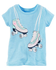 Playera Patines-Azul