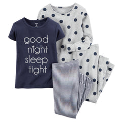 Set 4 piezas Pijama Good Night Sleep Tight - bebe2go.com